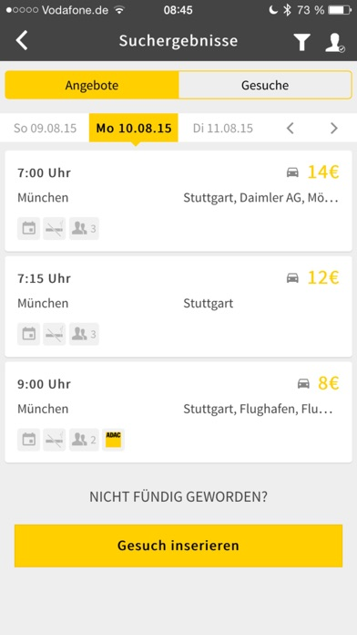 ADAC Mitfahrclub: Die kostenlose Fahrtvermittlung für alle! Screenshot