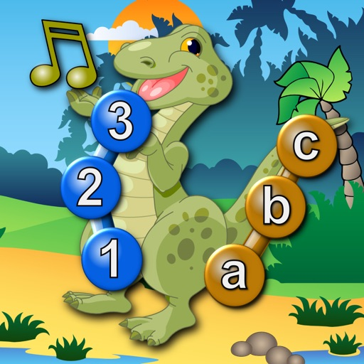 Kids Dinosaur Join and Connect the Dots Puzzles - Rex teaches the ABC numbers and counting iOS App