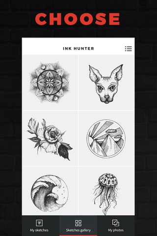 INKHUNTER try tattoo designs in augmented reality screenshot 1