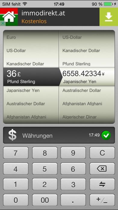 Screenshot von Konverter Kostenlos : Metrisch, Währungs-und Einheitenrechner für iPad1