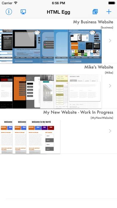 HTML Egg - Web Page CreatorCapture d'écran de 1