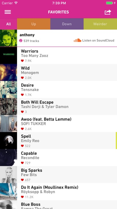 Screenshot 4 for Hype Machine's iPhone app'