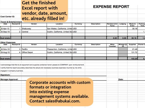 Where Is The Tracking Number On A Fedex Receipt Excel Expense Reports Receipts Invoices  Business Expenses With  Supermarket Receipt Excel with Cloud Invoice Excel Ipad Screenshot  Easy Receipt Pdf