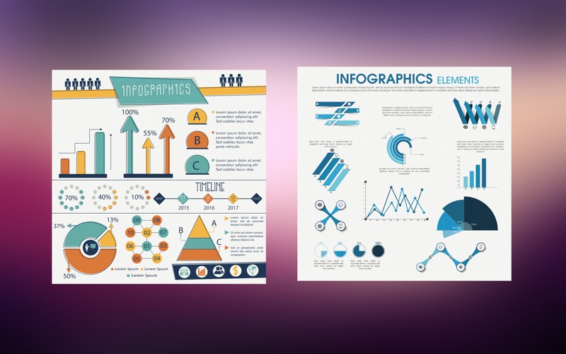Infographic template apps