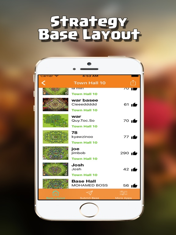 Très Coc Bases Layouts : Trophy Maps for Clash of Clans on the App Store AW55
