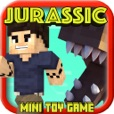 JURASSIC CRAFT ( Dino Hunter ): SURVIVAL Block Mini Game with Multiplayer