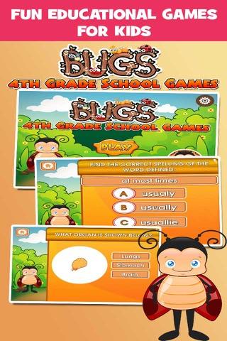Bugs Fourth Grade Kids Games School Edition screenshot 1