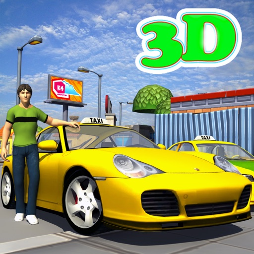 Real Taxi 3d Car Parking Simulator Icon