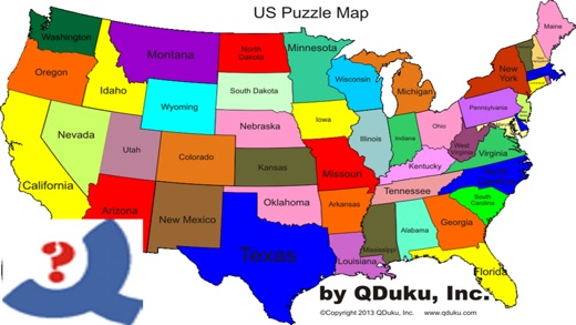 US Puzzle Map Game On The App Store - The us map game