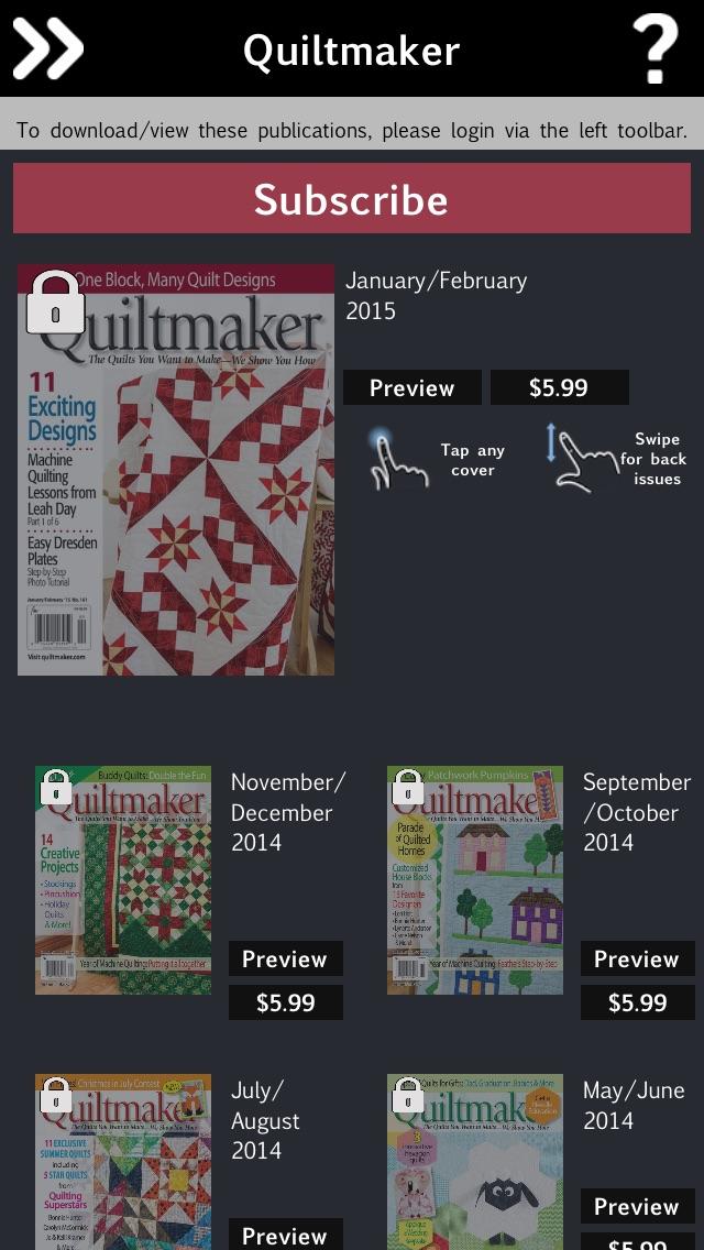 Quiltmaker Magazine review screenshots