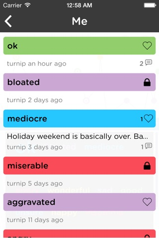 Moodtrack Diary: Private Mood Tracker & Mood Tracking Journal screenshot 2
