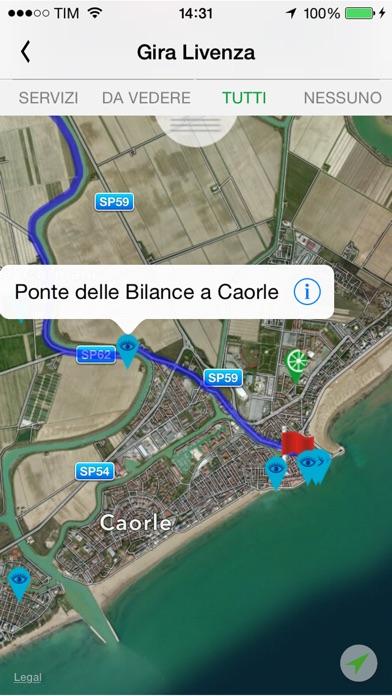 Screenshot of Venezia Orientale in Bici5