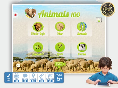 Screenshot #1 for Animals 100 - Real Animals