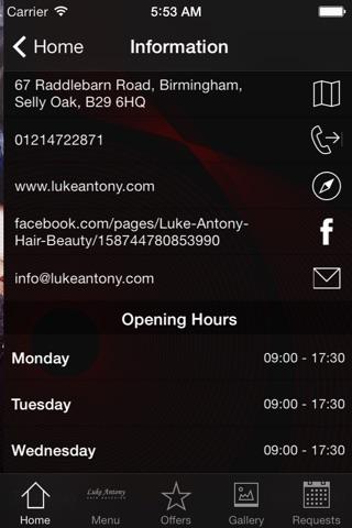 Luke Antony Hair and Beauty screenshot 3