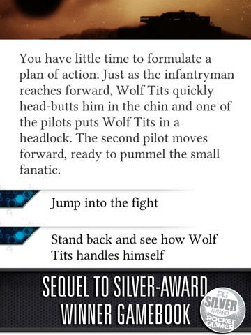 Screenshot #3 for Sol Invictus – Sequel to Interactive SciFi Gamebook Heavy Metal Thunder