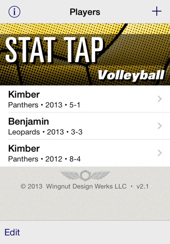 Stat Tap Volleyball screenshot 1