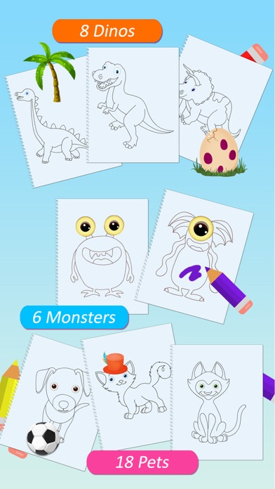 Paint Dress Up Your Animals Drawing Coloring And Game