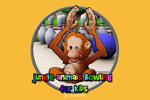 jungle animals and bowling for children - free game screenshot 1