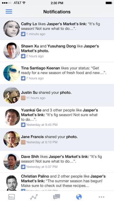 Screenshot of Gestore delle Pagine Facebook5