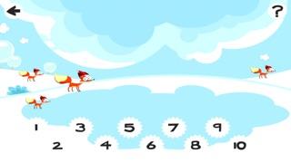 Screenshot of 123 Pazzo Conteggio del Ghiaccio, Della Neve e di Natale Animali: i Ragazzi di Imparare Gioco5