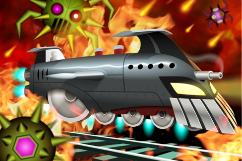 Battle Trains Rocket Railroad: Subway Rail Surfers Rush & Run Game screenshot 1