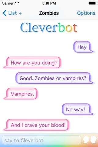 Cleverbot screenshot 3