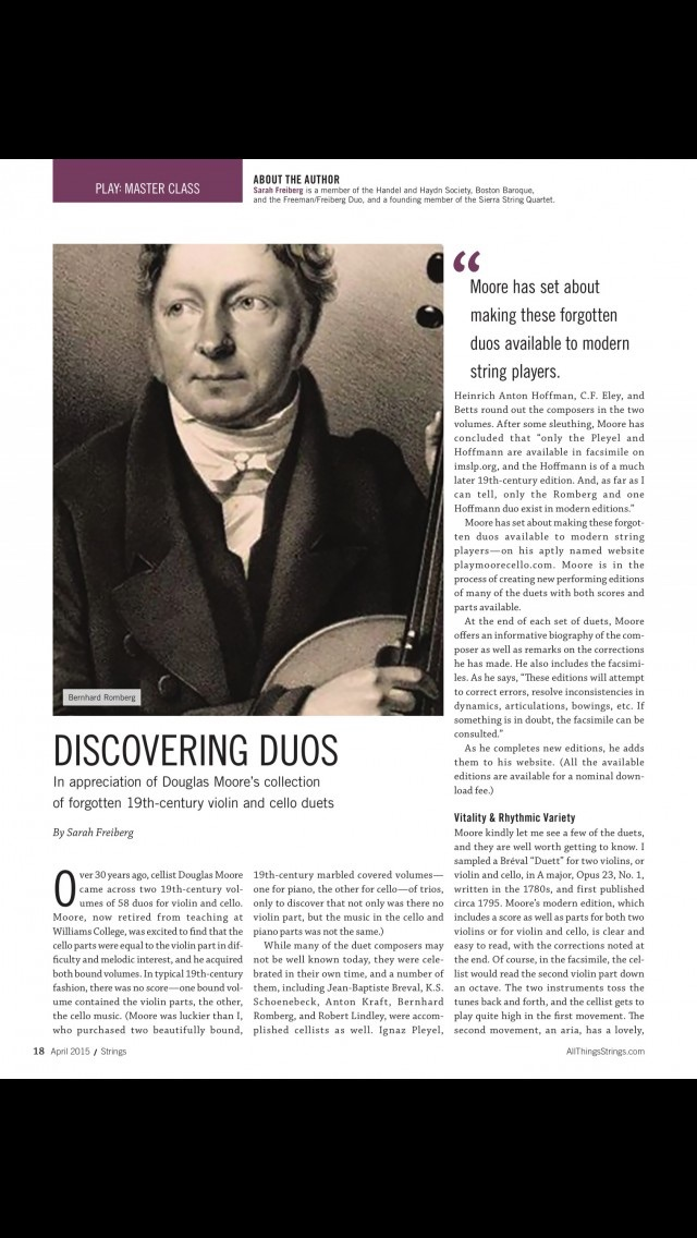 Strings Magazine review screenshots