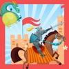 城堡和騎士的小兒童遊戲幼兒學校