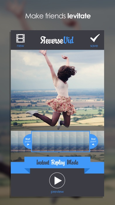 Screenshots of Reverse Vid - Video Rewind Editor for Backwards & Instant Replay Movies For Vine and Instagram for iPhone