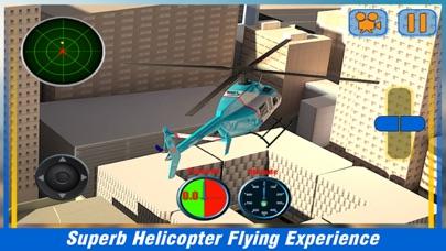 市ヘリコプターフライングシミュレーター - アーバンランド上空を飛ぶ航空ヘリコプターのスクリーンショット1