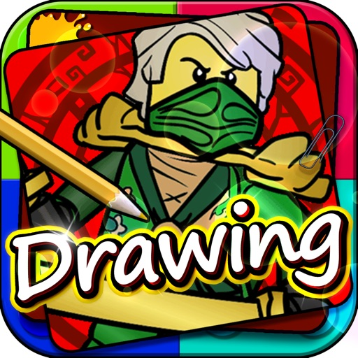 """Drawing Desk Draw and Paint games on Coloring Book Edition - """"Lego Ninjago version"""" iOS App"""