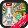 Play and learn in the shop with Robbie robot, an app for kids from 3 til 6 years old.