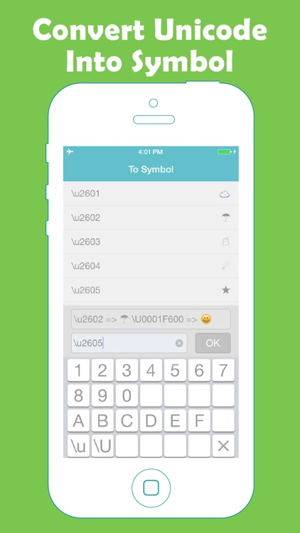 unicode converter between unicode and symbols by shumei liang