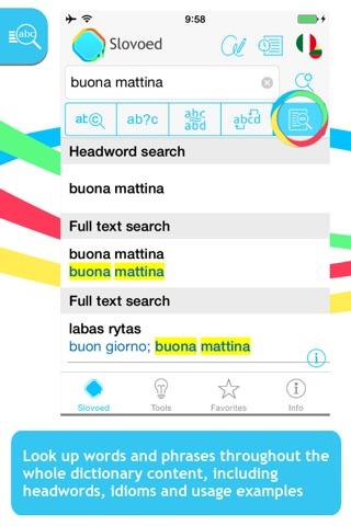 Italian <-> Lithuanian Slovoed Compact talking dictionary screenshot 2