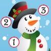 活動! 遊戲聖誕節的孩子: 學習計數 數字1-10 與聖誕老人