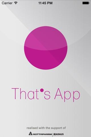 That's App screenshot 1