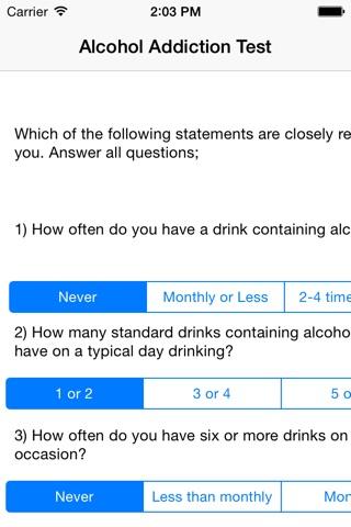 Alcohol Addiction Test screenshot 1