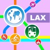 Los Angeles City Maps - Discover LAX with Metro, Bus, and Travel Guides. Applications gratuit pour iPhone / iPad