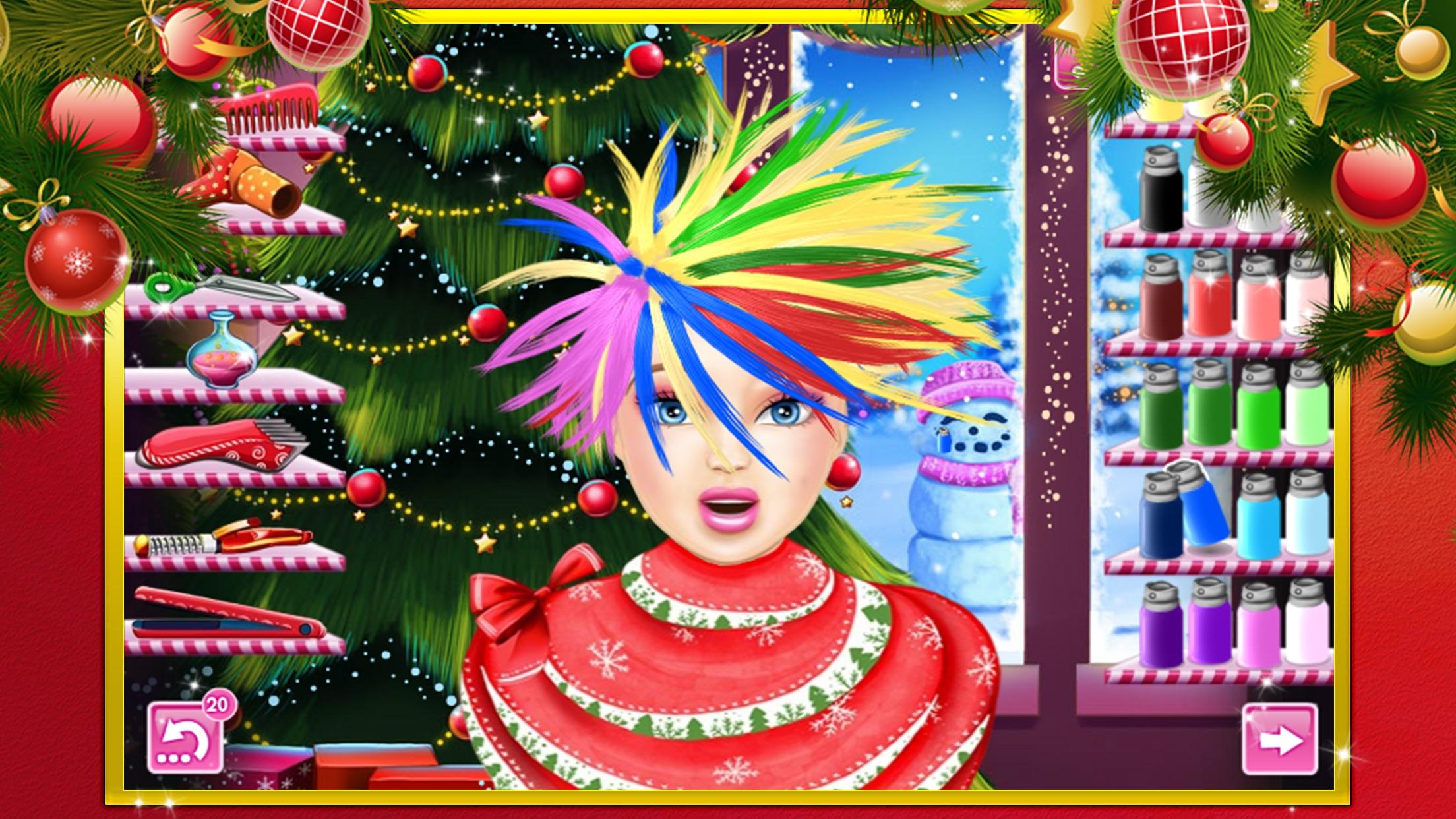 可爱公主的圣诞发型