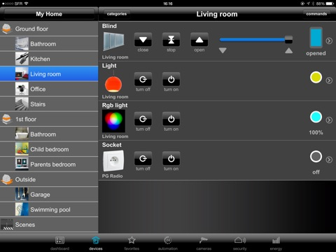 domovea ipad edition bei hager controls sas. Black Bedroom Furniture Sets. Home Design Ideas