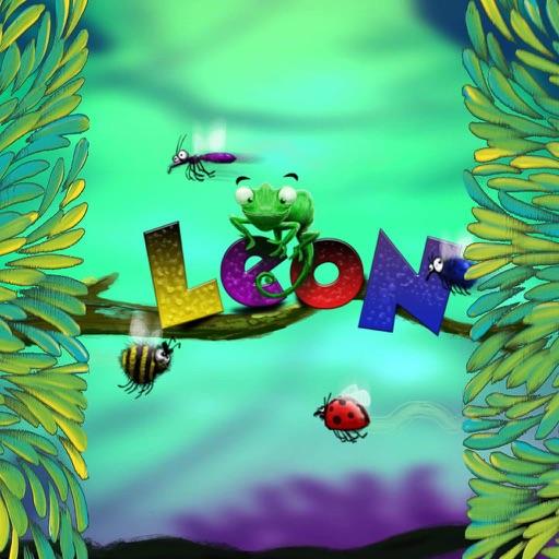 Chameleon Leon eating worms iOS App