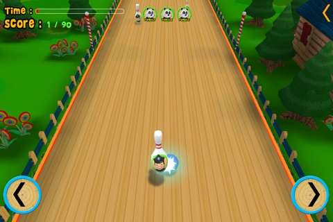 jungle animals and bowling for children - free game screenshot 2