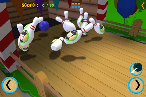 jungle animals and bowling for children - free game screenshot 3