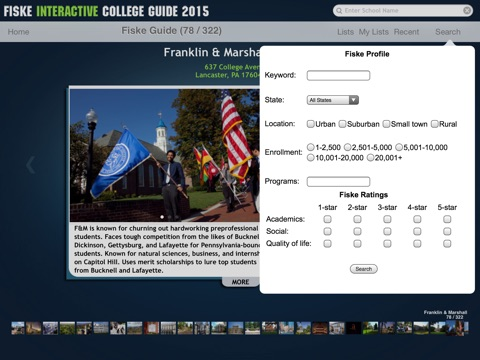 Fiske Interactive College Guide 2015 screenshot 3