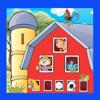 Leren en spelen op de boerderij. Interactief geanimeerde app voor peuters en kleuters met tekenfilm