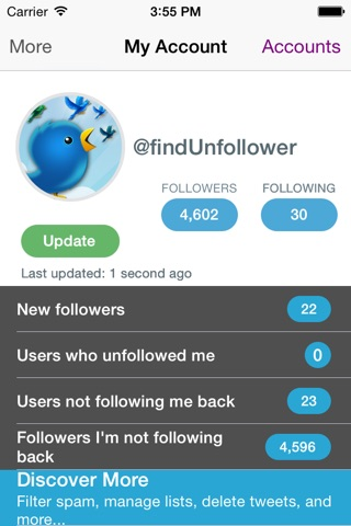 Find Unfollowers And Track New Followers On Twitter - Pro Edition screenshot 1