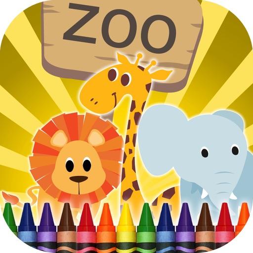 Coloriage animaux de zoo par jaime restrepo - Coloriage animaux zoo ...