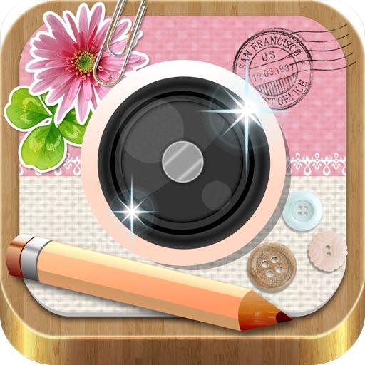相框+贴纸 InstaDeco-适用于 Instagram 的相框、说明文字和图章、大头贴