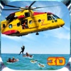 City Rescue Helicopter Pilot Flight 3D Simulator - Rescuer Team Chopper Parking Game