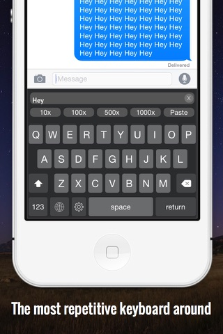RepeaterBoard - Repeat any message over 1000x Keyboard screenshot 1